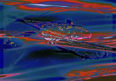 Koi Digital Art - Catching The Last Wave by Tg Devore