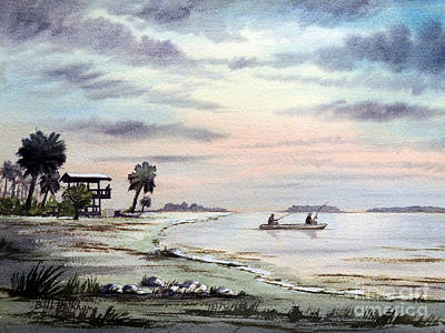 Speckled Trout Painting - Catching The Sunrise - Hagens Cove by Bill Holkham