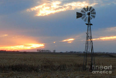 Catching The Wind In South Dakota Art Print