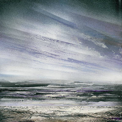 Catclough Reservoir Winter Rythms And Textures Art Print by Mike   Bell