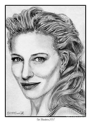 Drawing - Cate Blanchett In 2007 by J McCombie