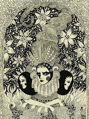 Drawing - Caterpillar, 2013 by Dariya Hlazatova