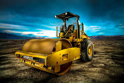 Machinery Photograph - Caterpillar Cat Roller Cs563e by YoPedro