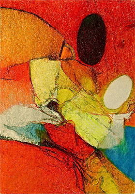 Colored Pencil Abstract Mixed Media - Caterpillar  Vision by Cliff Spohn
