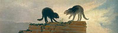 Spain Painting - Catfight by Francisco Goya