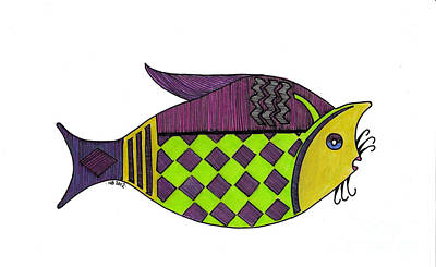Catfish Drawing - Don't Be A Catfish by Nancy Mergybrower