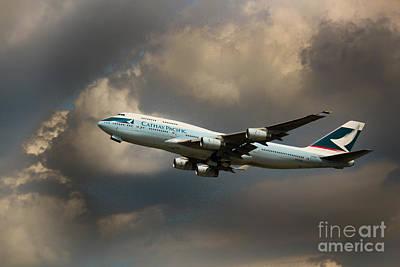 Cathay Pacific B-747 Art Print
