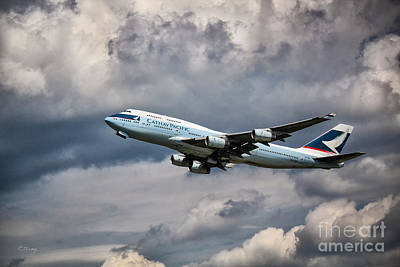 Cathay Pacific Boeing 747-400 Art Print