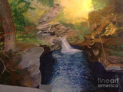 Painting - The Dark Gorge by Mary K Conaboy