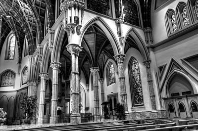 Art Print featuring the photograph Cathedral Arches by Linda Edgecomb