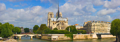 Notre Dame Cathedral Photograph - Cathedral At The Riverside, Notre Dame by Panoramic Images