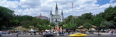 St. Louis Cathedral Photograph - Cathedral At The Roadside, St. Louis by Panoramic Images
