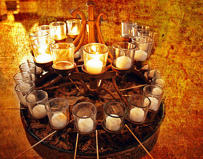 Revolutionary War Art - Cathedral Basilica Candlelight by Caren Libby