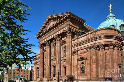Cathedral Basilica Of Saints Peter And Paul Print by Olivier Le Queinec