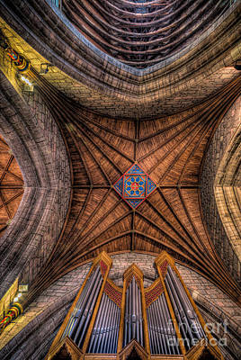 Beam Digital Art - Cathedral Ceiling by Adrian Evans