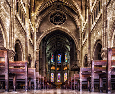 Photograph - Cathedral Chalone Sur Soane France by Bob Coates