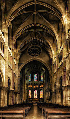 Photograph - Cathedral Chalone Sur Soane France Number Two by Bob Coates