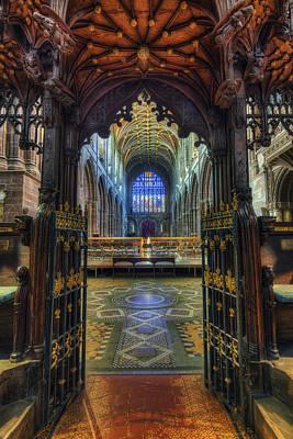 Cathedral Choir Gates Art Print by Ian Mitchell