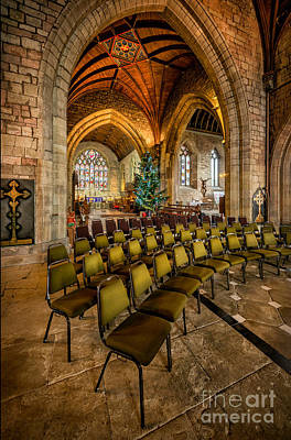 Chairs Digital Art - Cathedral Christmas by Adrian Evans