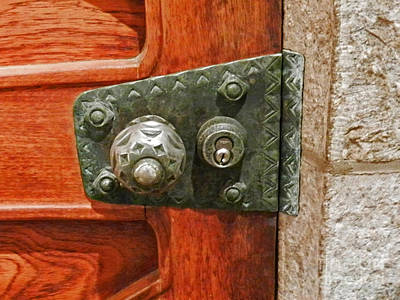 Photograph - Cathedral Door Lock by Val Miller