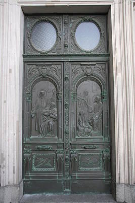 Metall Photograph - Cathedral Entrance Door by Christiane Schulze Art And Photography