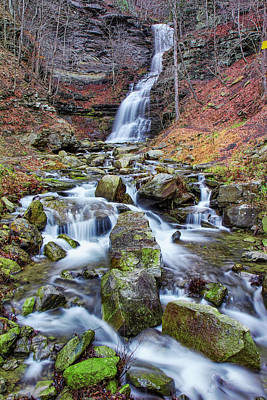 Photograph - Cathedral Falls In Autumn by Mary Almond