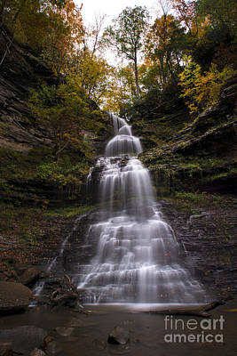 Photograph - Cathedral Falls In The Fall by Dan Friend