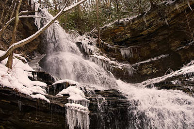 Digital Art - Cathedral Falls Top Winter by Chris Flees