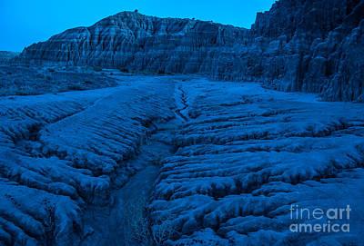Cathedral Gorge Moonlight Erosion - Nevada Art Print