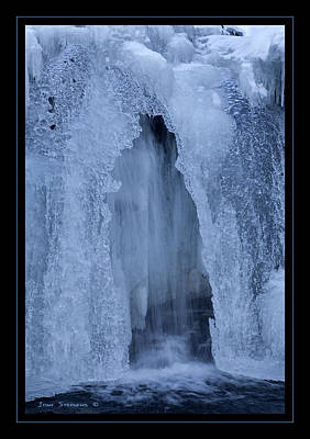 Photograph - Cathedral Ice Waterfall by John Stephens