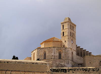 Cathedral In Ibiza Town Art Print