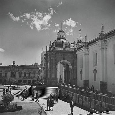 Landscape Photograph - Cathedral In Plaza Mayor by Horst P. Horst