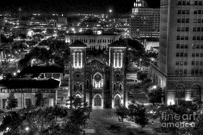 Photograph - Cathedral In San Antonio Texas by Dan Friend