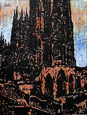 Cathedral In Spring Art Print by Oscar Penalber