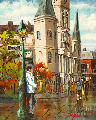 Jackson Square Painting - Cathedral Jazz by Dianne Parks