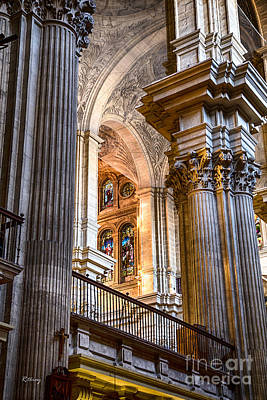 Cathedral Malaga Spain Print by Rene Triay Photography