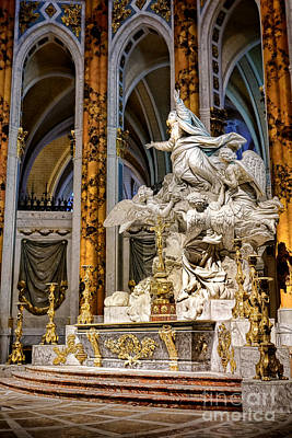 Chartre Photograph - Cathedral Of Chartres Altar by Olivier Le Queinec