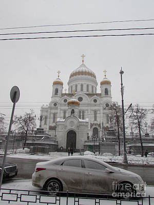 Photograph - Cathedral Of Christ The Savior In Moscow by Anna Yurasovsky