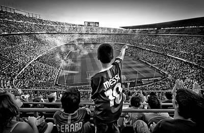 Messi Photograph - Cathedral Of Football by Clemens Geiger