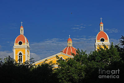 Photograph - cathedral of Granada Nicaragua 2 by Rudi Prott