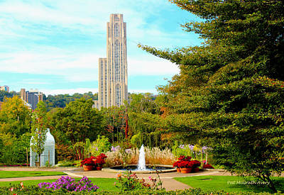 Cathedral Of Learning Art Print by Pat McGrath Avery