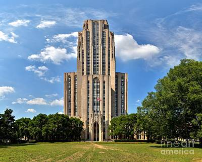 Cathedral Of Learning Pittsburgh Pa Art Print by Adam Jewell