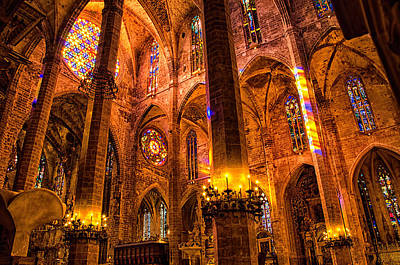 Cathedral Of Light - Majorca Spain Art Print