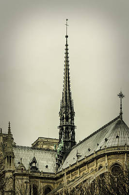 Medieval Temple Photograph - Cathedral Of Notre Dame De Paris II by Marco Oliveira