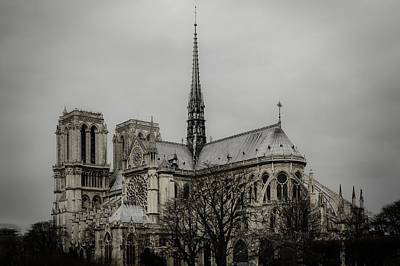 Cathedral Of Notre Dame De Paris Art Print by Marco Oliveira