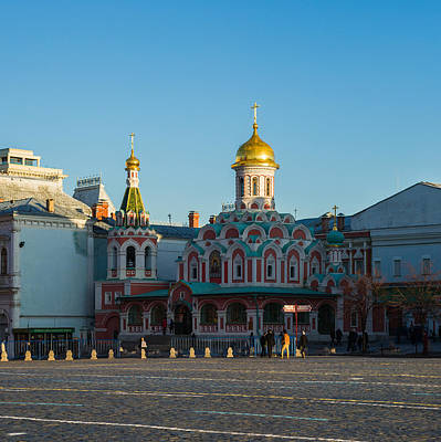 Cathedral Of Our Lady Of Kazan - Square Art Print by Alexander Senin