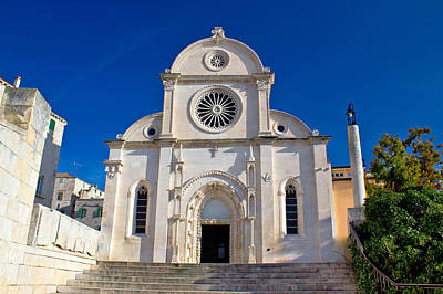Photograph - Cathedral Of St James In Sibenik Facade by Brch Photography