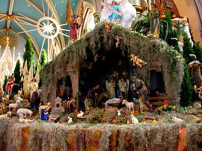Photograph - Cathedral Of St. John The Baptist Savannah - Nativity Scene by Jacqueline M Lewis