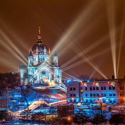 Cathedral Of St Paul Ready For Red Bull Crashed Ice Art Print by Paul Freidlund