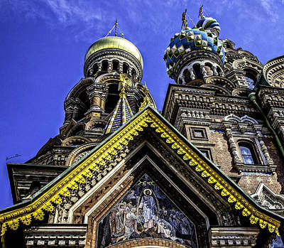 Orthodox Christian Photograph - Cathedral Of The Resurrection - St. Petersburg - Russia by Madeline Ellis